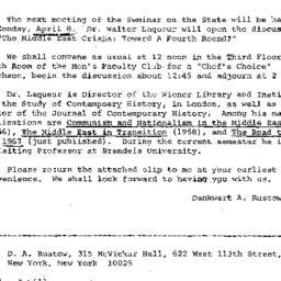 Announcements, 1968-03-22. ...