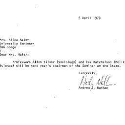 Correspondence, 1974-04-05....