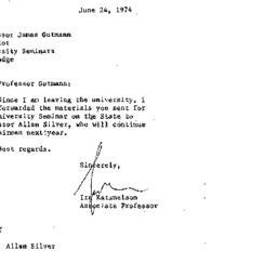 Announcements, 1975-06-24. ...