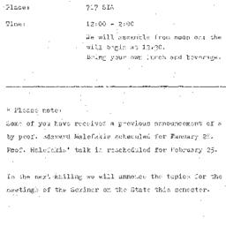 Announcements, 1976-01-23. ...