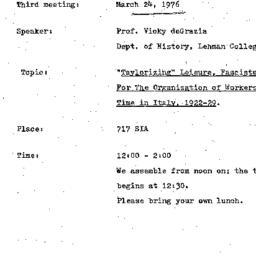 Announcements, 1976-03-24. ...