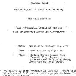 Announcements, 1979-02-21. ...