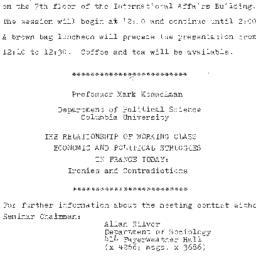 Announcements, 1981-09-30. ...
