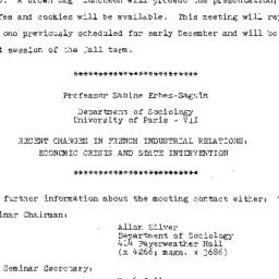Announcements, 1981-11-16. ...