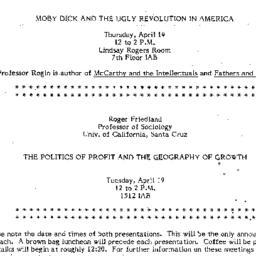Announcements, 1983-04-14. ...