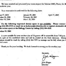 Correspondence, 2001-05-22....
