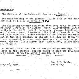 Minutes, 1954-02-23. The Pr...