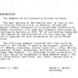 Minutes, 1954-10-12. The Pr...