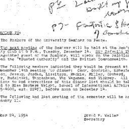 Minutes, 1954-11-23. The Pr...