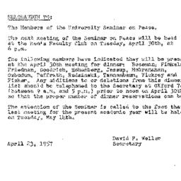 Minutes, 1957-04-09. The Pr...