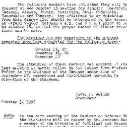 Announcements, 1957-10-03. ...