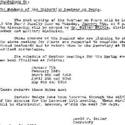 Announcements, 1957-12-26. ...