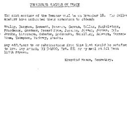 Announcements, 1958-10-27. ...