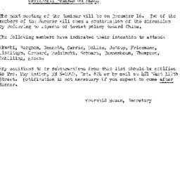 Announcements, 1958-12-02. ...