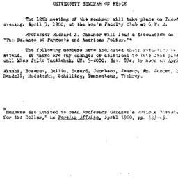 Announcements, 1960-03-23. ...