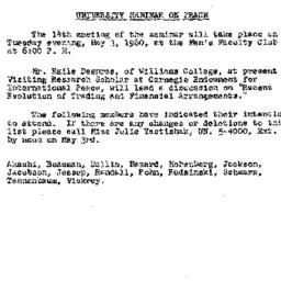Announcements, 1960-04-05. ...