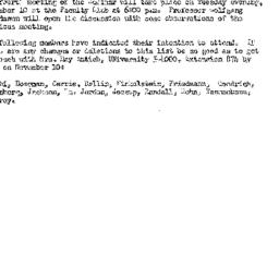 Announcements, 1959-10-20. ...