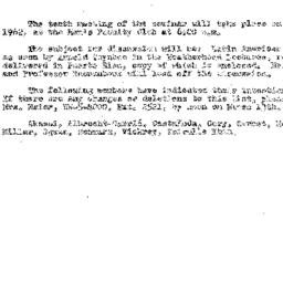Announcements, 1962-03-08. ...