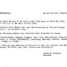 Announcements, 1963-02-26. ...