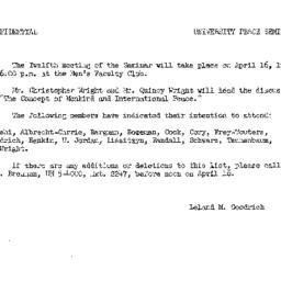 Announcements, 1963-03-12. ...