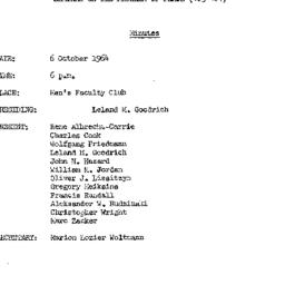 Minutes, 1964-10-06. The Pr...
