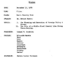 Minutes, 1964-12-15. The Pr...