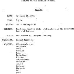 Minutes, 1966-11-15. The Pr...