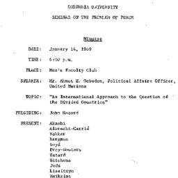 Minutes, 1969-01-14. The Pr...