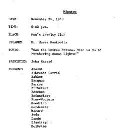 Minutes, 1968-11-26. The Pr...
