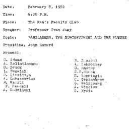 Minutes, 1972-02-08. The Pr...