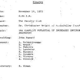 Minutes, 1972-11-14. The Pr...