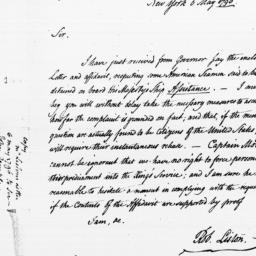 Document, 1796 May 06