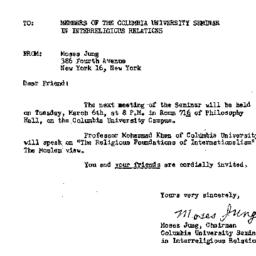 Announcements, 1956-02-12. ...