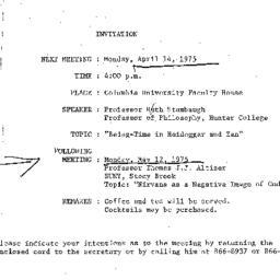 Announcements, 1975-04-14. ...
