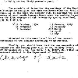 Correspondence, 1974-09-19....