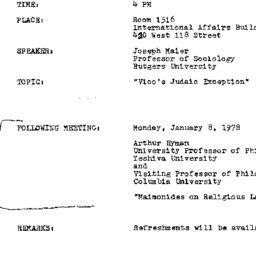 Announcements, 1978-12-11. ...