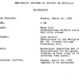 Announcements, 1980-03-10. ...