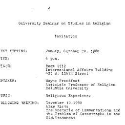 Announcements, 1980-10-20. ...