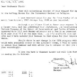Correspondence, 1988-05-19....