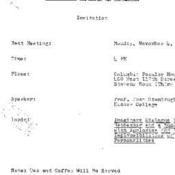 Announcements, 1991-11-04. ...