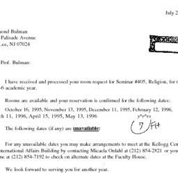 Correspondence, 1996-06-28....