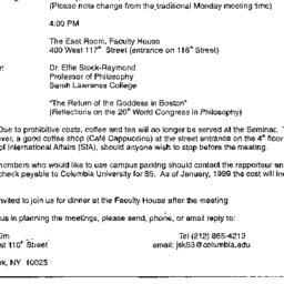Announcements, 1998-10-06. ...