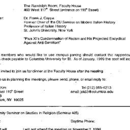 Announcements, 1998-11-10. ...