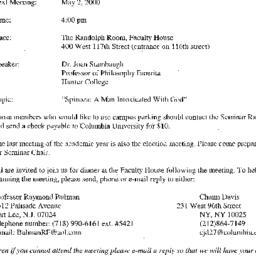 Announcements, 2000-05-02. ...