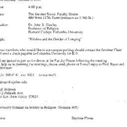 Announcements, 1999-10-05. ...