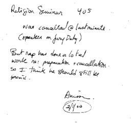 Correspondence, 2000-02-01....