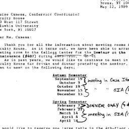 Correspondence, 1991-05-12....