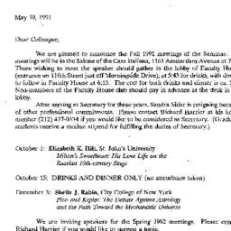 Correspondence, 1992-05-10....