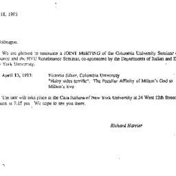 Correspondence, 1993-03-18....