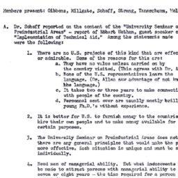 Minutes, 1958-01-22. Rural ...